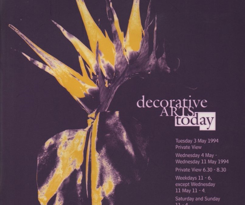 Decorative Arts Today – accompanying catalogue to exhibition, 1994