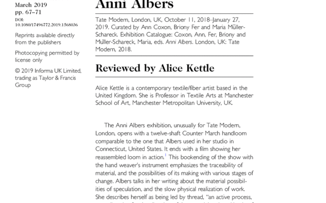 Anni Albers review